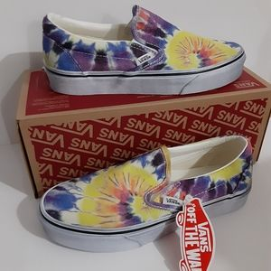 Vans Classic Slip-On Mens Shoes Tie Dye Low Tops
